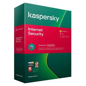 Kaspersky Internet Security 2021, 4 Appareils, 1 Ans, Windows/Mac/Android